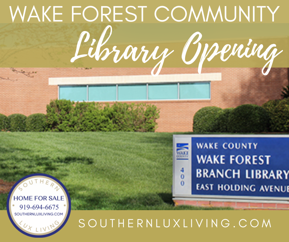 Wake Forest Library Set To ReOpen!