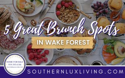 5 Great Brunch Spots In Wake Forest