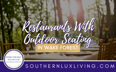 Restaurants with Outdoor Seating in Wake Forest